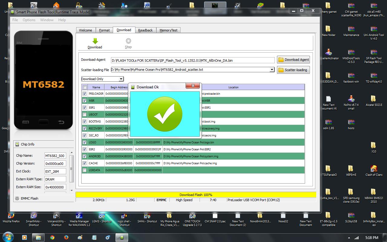 Image result for sp flash tool download ok