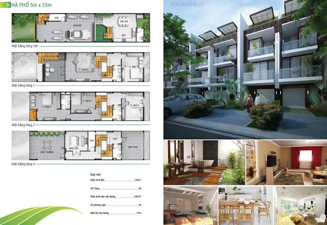 Mẫu thiết kế nhà phố 5x25m