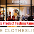 Free Chico's Women's Clothing and Gift Cards Product Testing Clothesline Panel