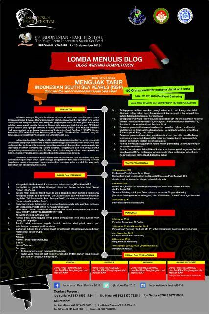 Lomba Menulis Blog 6th IPF
