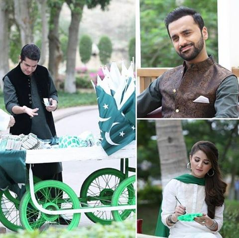 Waseem Badami & Iqrar Ul Hassan on Set of Shukriya Pakistan - Rahat Fateh Ali Khan