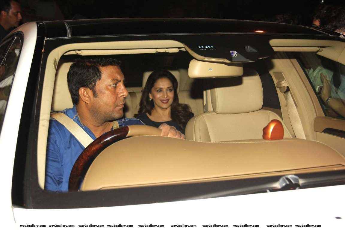 Madhuri Dixit was among the celebrities at Shah Rukh Khans dinner party for Apple CEO Tim Cook