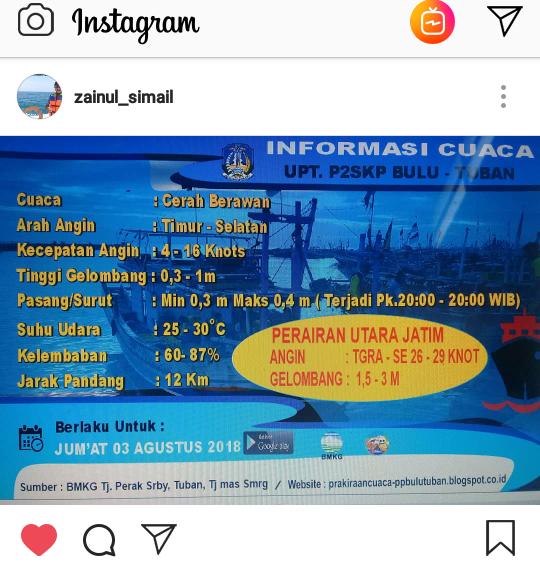 Prakiraan Cuaca 03 Agustus 2018 UPT P2SKP BULU TUBAN