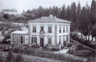 The villa of Longworth Powers on Viale Poggio Imperiale