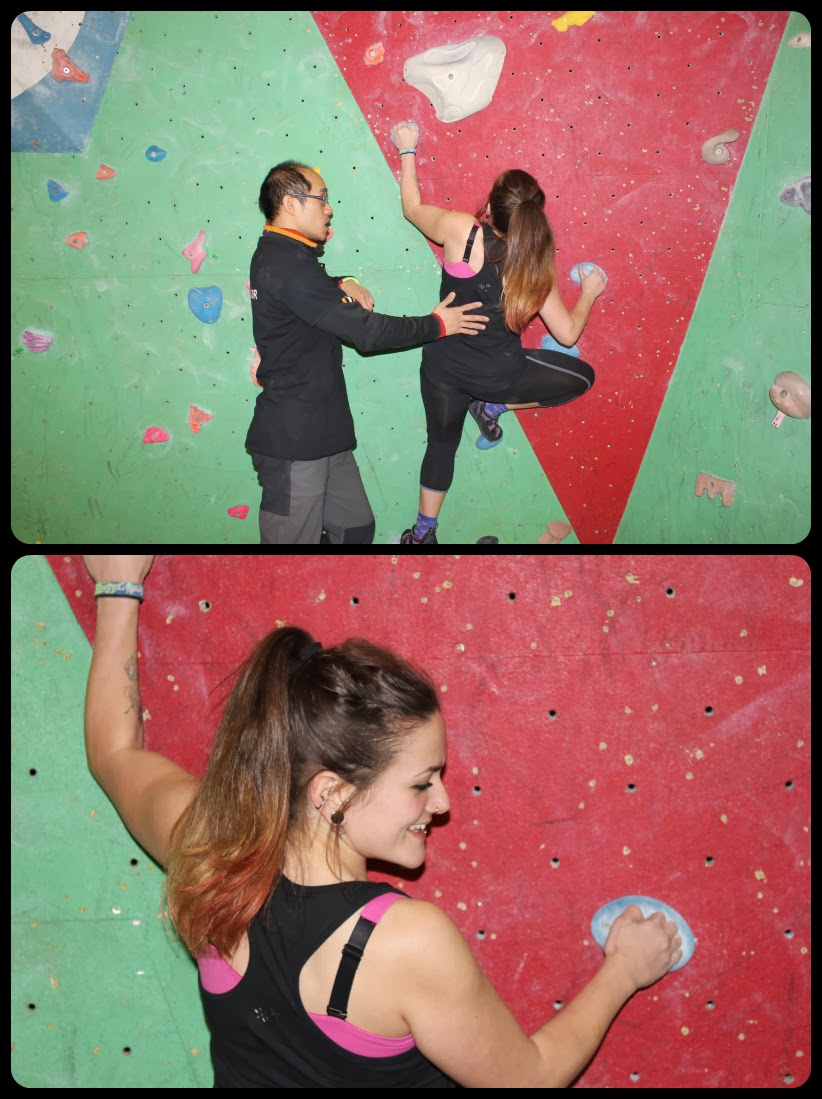Bouldering at Westway Sports Centre