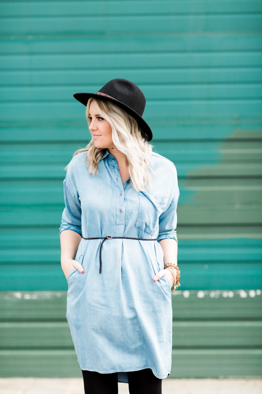 Denim Dress, Postpartum Outfit, Utah Fashion Blogger