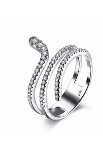 Inel din argint 925, decorat cu strasuri