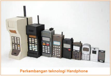 Pengertian dan Perkembangan Teknologi - Perkembangan teknologi Handphone