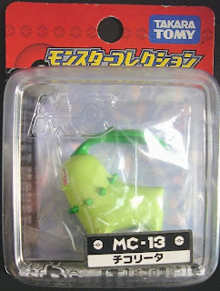 Chikorita new pose Pokemon Figure Takara Tomy Monster Collection MC series