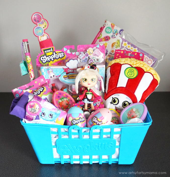 Surprise a Shopkins fan with the Ultimate Shopkins Easter Basket overflowing with their tiny favorites!