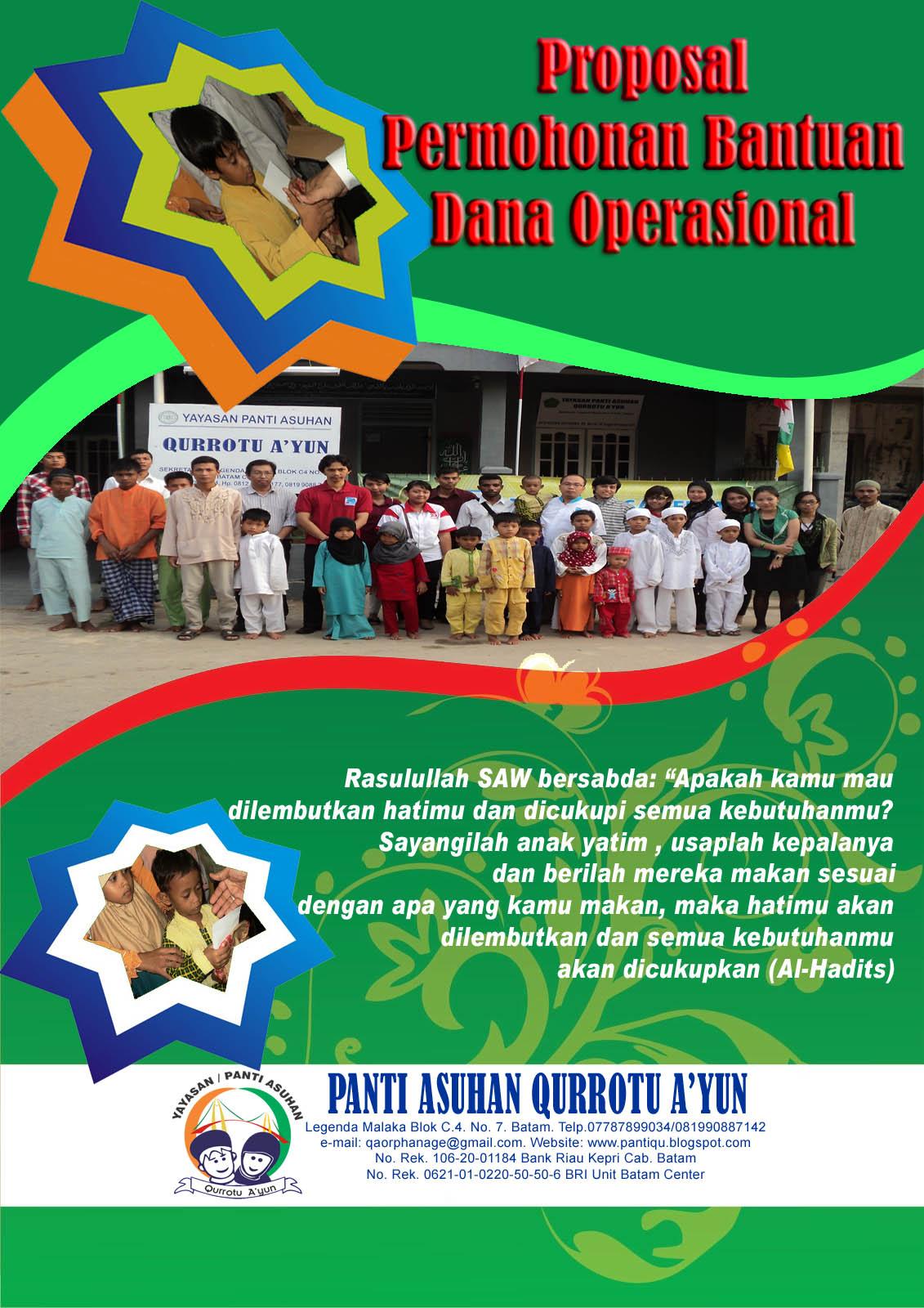 Panti Asuhan Qurrotu A Yun Contoh Contoh Cover Proposal