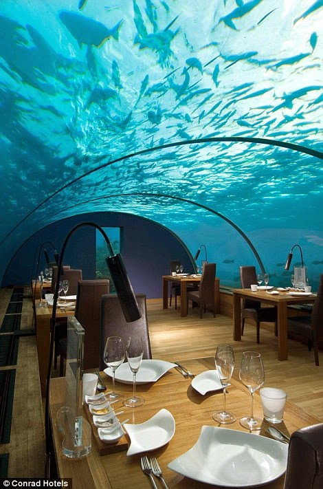 "You'll have 180-degree panoramic views of the breathtaking turquoise blue ocean. - The ""Most Beautiful Restaurant In The World"" Is Downright Mind-Blowing."