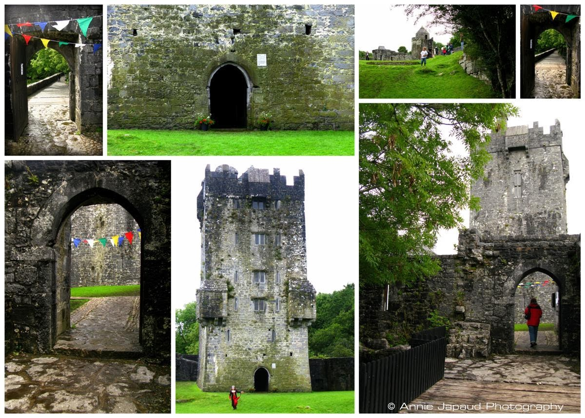 collage of AUGHNANURE CASTLE, Oughterard, Co Galway, Ireland