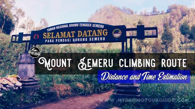 Mount Semeru climbing route