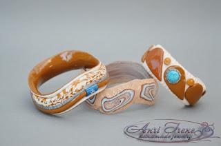 Bracelet polymer clay.