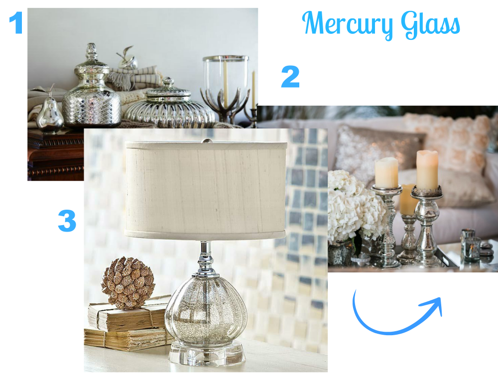 decorating with mercury glass