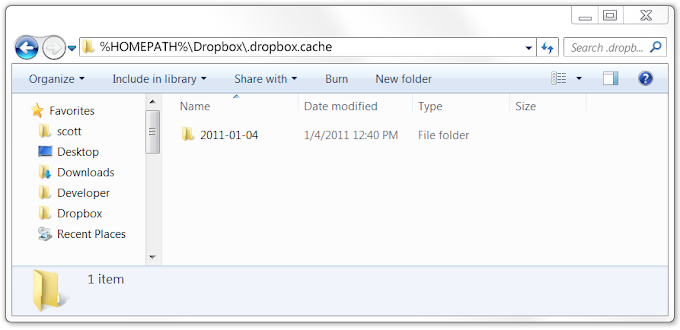 Clear The Dropbox Cache