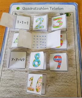 Motivierender Bastelspaß zum Thema Multiplikation: Quadrataufgaben spielend leicht lernen.