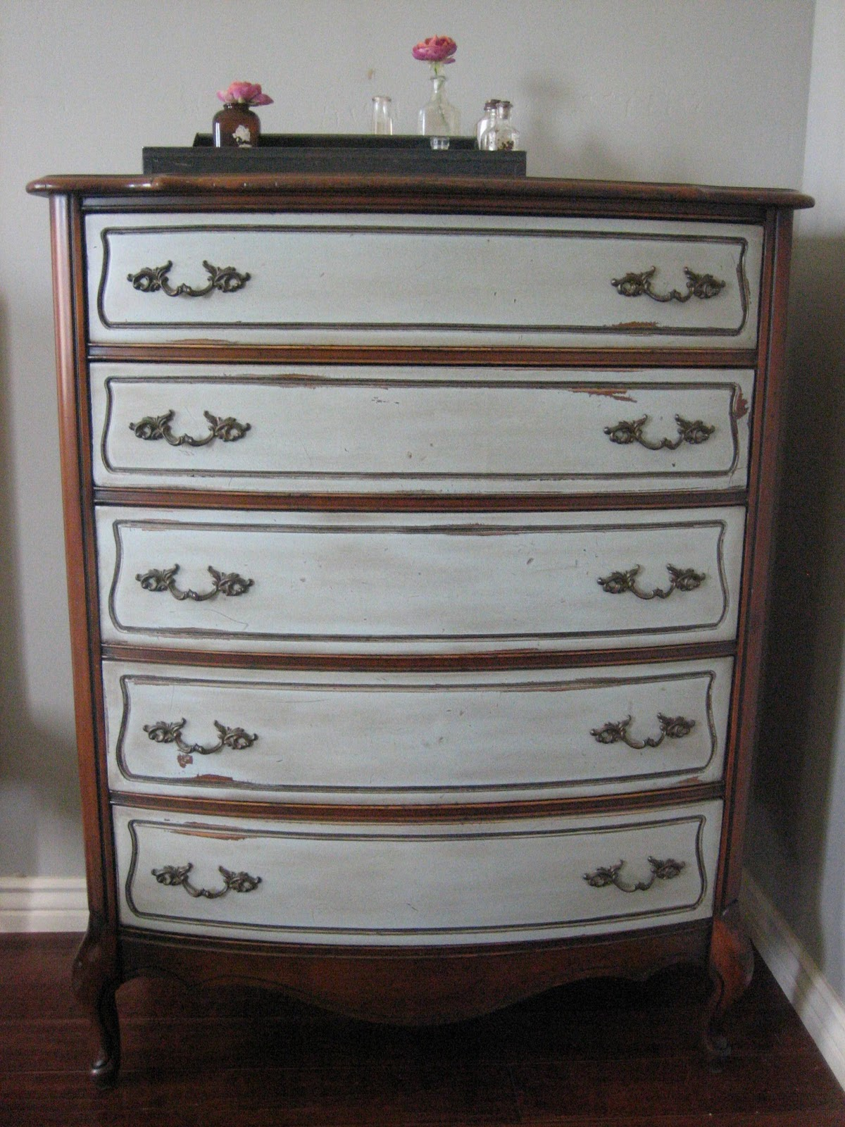 European Paint Finishes French Gray Bed Amp Dresser