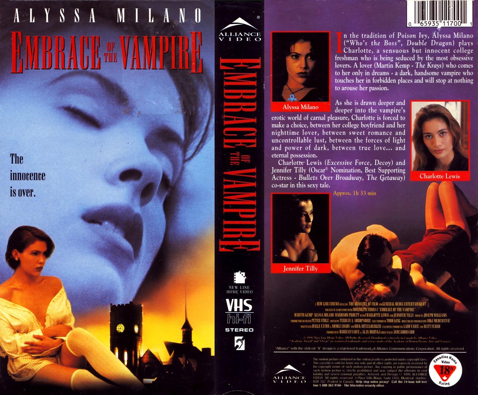 Alyssa Milano Embrace Of The Vampire vhs cover scans: embrace of the vampire (1995)