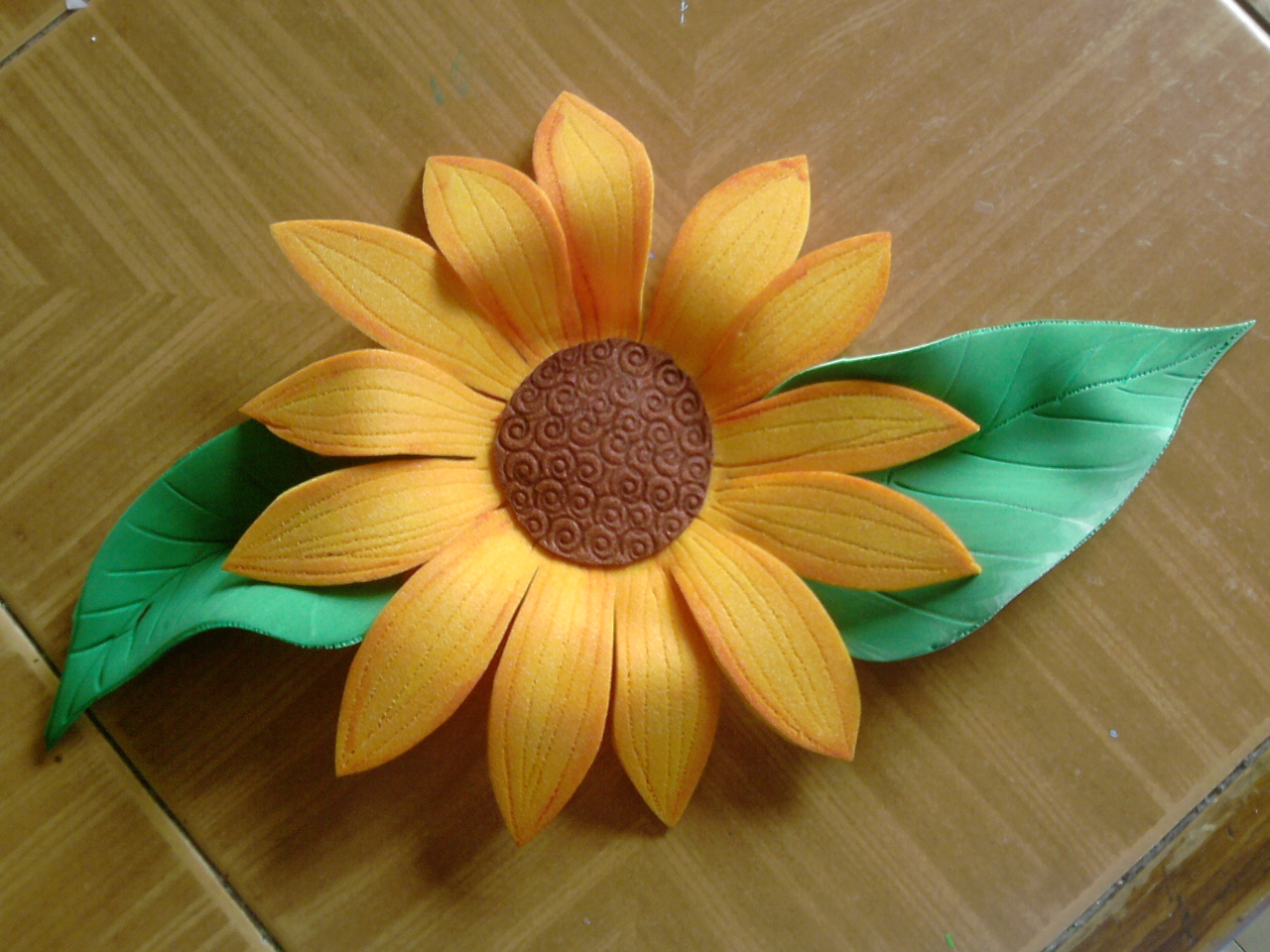 Moldes para hacer girasoles en foami Imagui