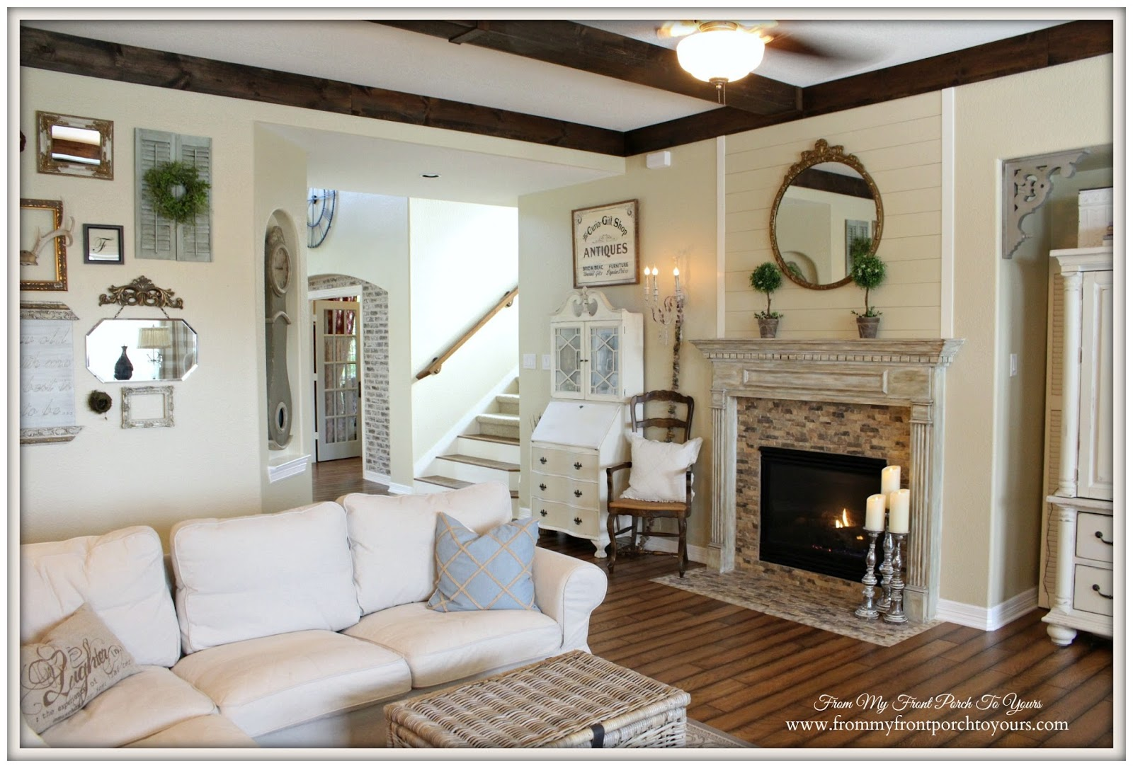 From My Front Porch To Yours: Farmhouse Living Room With