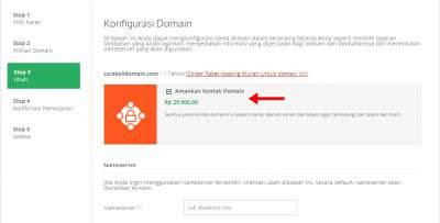 konfigurasi domain untuk beli domain