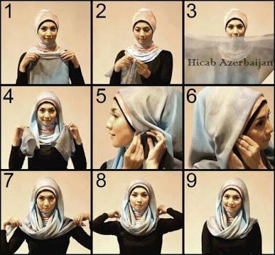Tutorial Hijab atau Jilbab Segitiga Sederhana Foto Step By Step