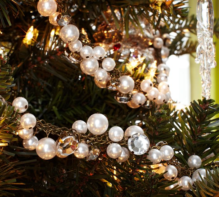 Pearl Garland For Christmas Tree: Carmen's Corner: HOLIDAY CONDO DECORATING FOR EVERYONE-part 2