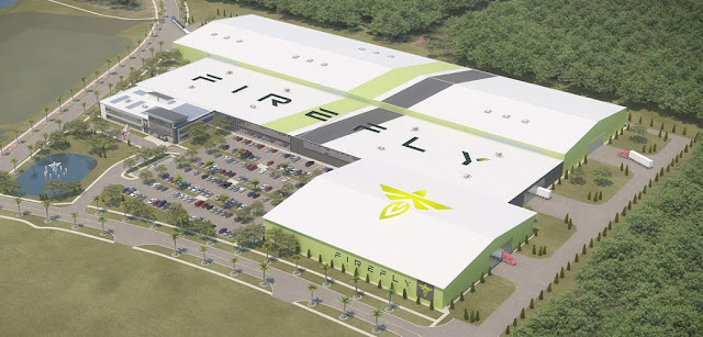 Architect's Rendering of the Firefly Aerospace Exploration Park Manufacturing Facility