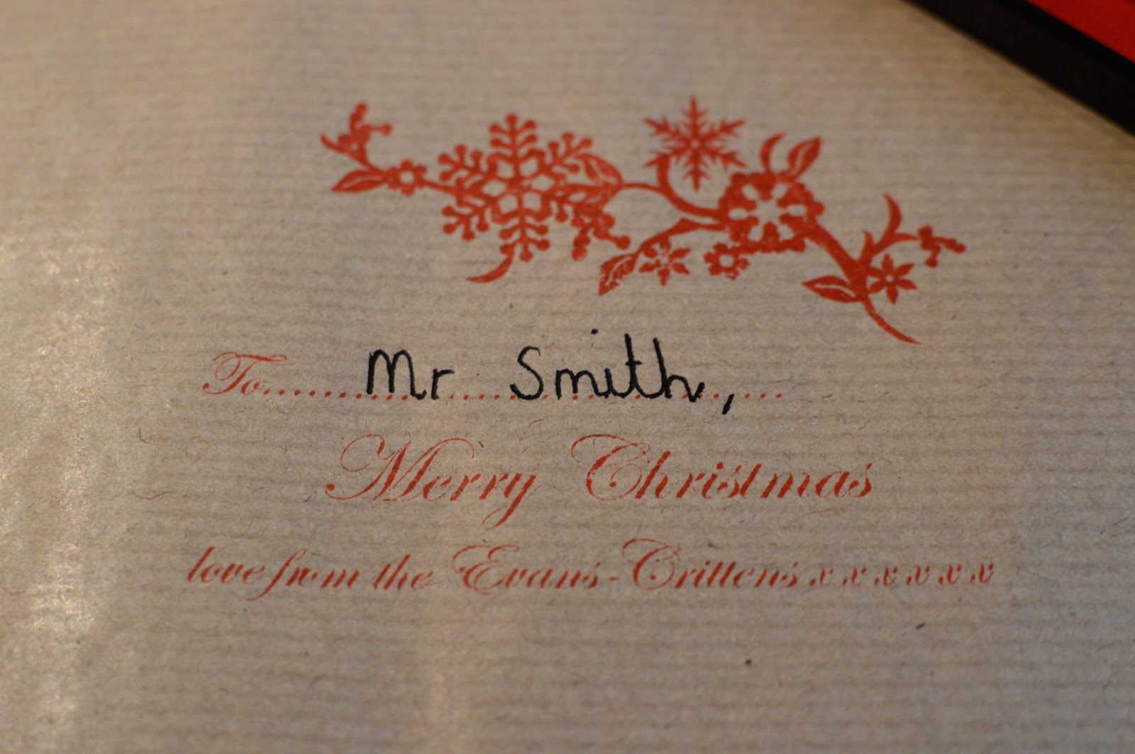 , Writing Cards and Wrapping Christmas Presents with Stamptastic Christmas Stamps