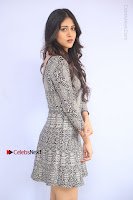 Actress Chandini Chowdary Pos in Short Dress at Howrah Bridge Movie Press Meet  0048.JPG