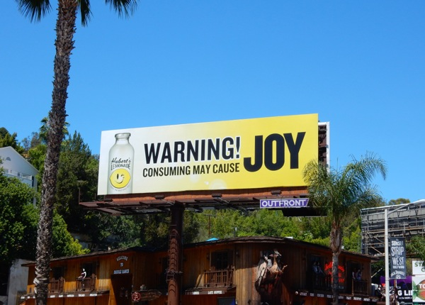 Warning may cause Joy Huberts Lemonade billboard