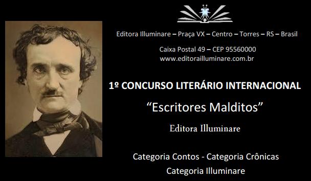 "Chamada para Concurso Literário </br>""Escritores Malditos"""