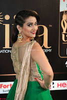 Manjusha in Beautiful Sleeveless Green Anarkali dress at IIFA Utsavam Awards 44.JPG