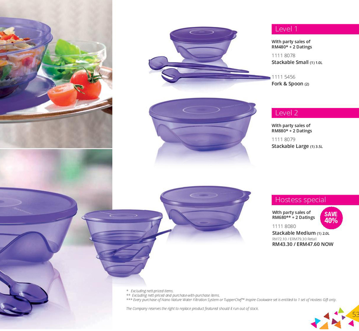 Contoh set esklusif Tupperware Level Set
