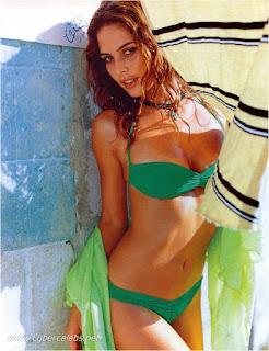 josie maran, model, actress, josie maran bikini, green bikini, standing photo, iphone