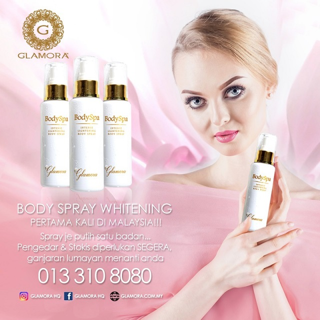Glamora Body Spa, Intensive Whitening Body Spray