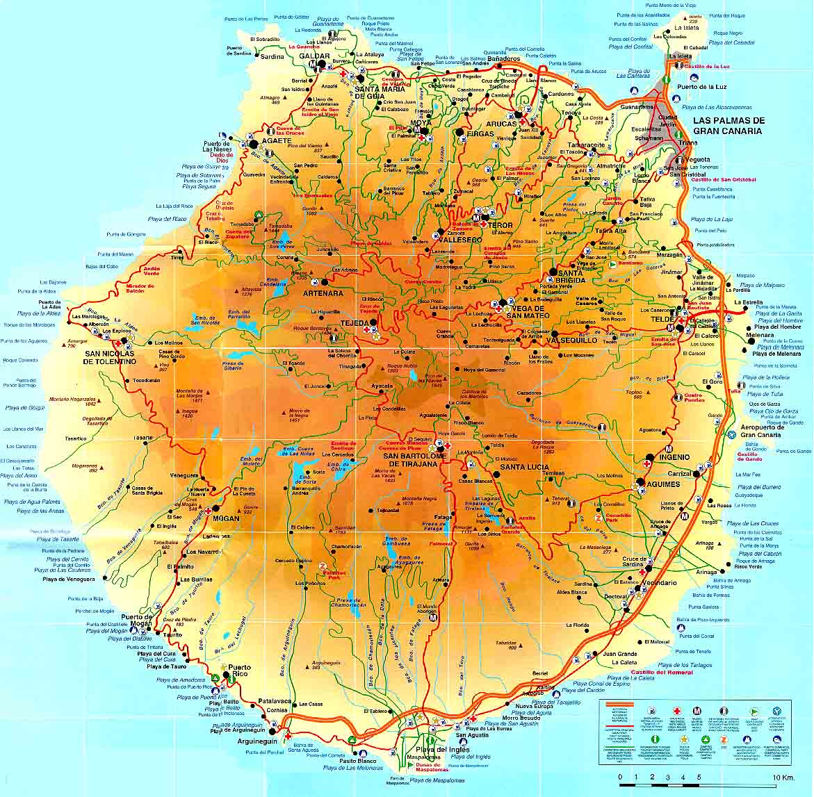 Second Largest Island Of Spain S Canary Islands