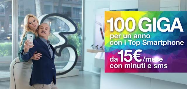 Canzone Pubblicità 3 Tre - Attore - Attrice - Modella - Gennaio 2016 - Musica Spot 100 GIGA