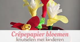 bloemen crepe papier