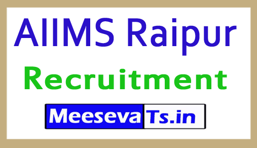 AIIMS Raipur Recruitment