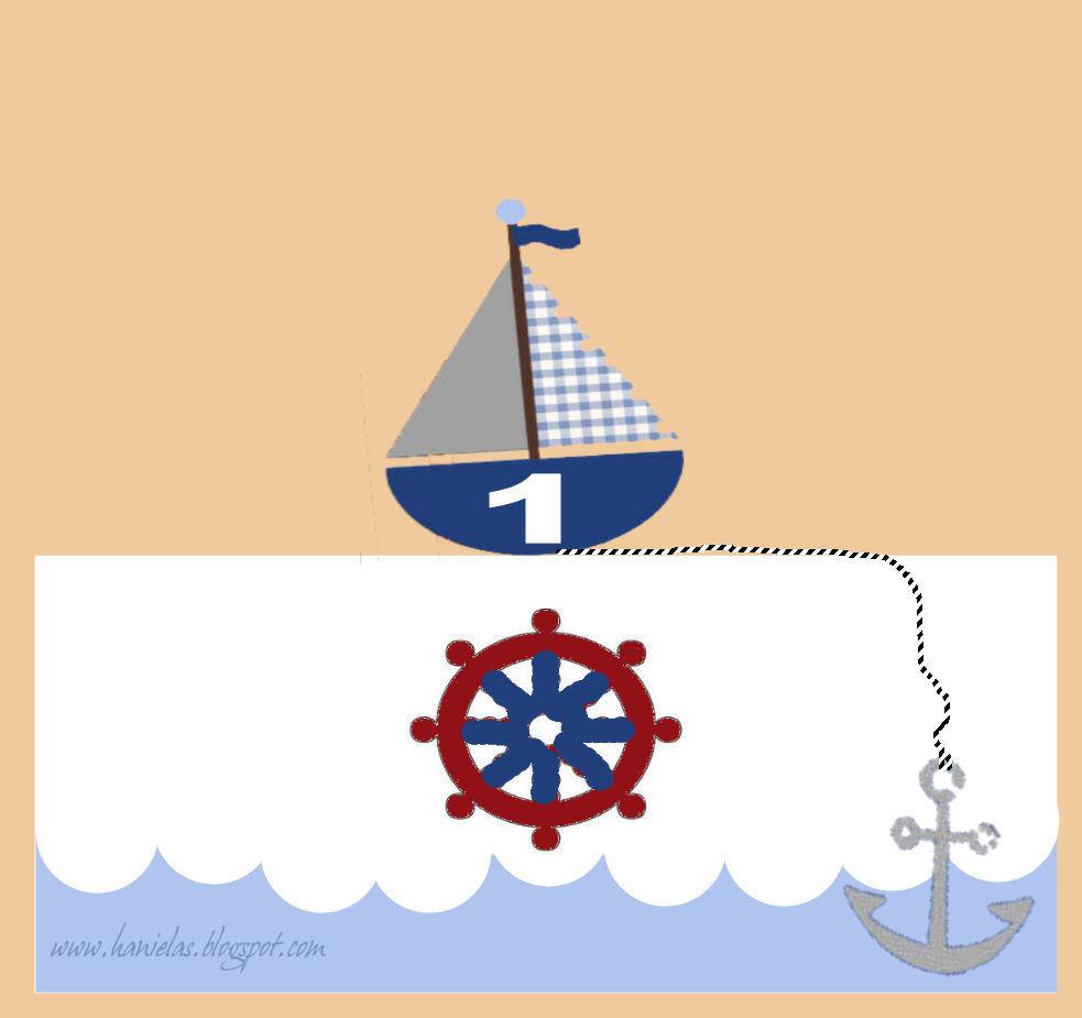 Haniela's: ~Nautical 1st Birthday Cake~