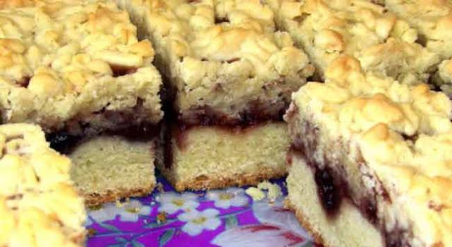 пирог, пирог тертый, десерт, варенье,