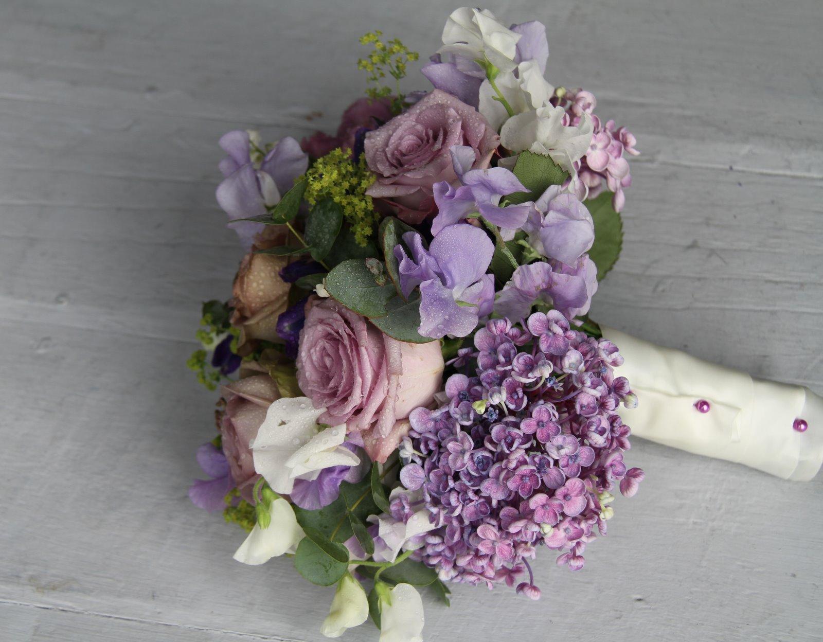 The Flower Magician: Antique Lavender Wedding Bouquet