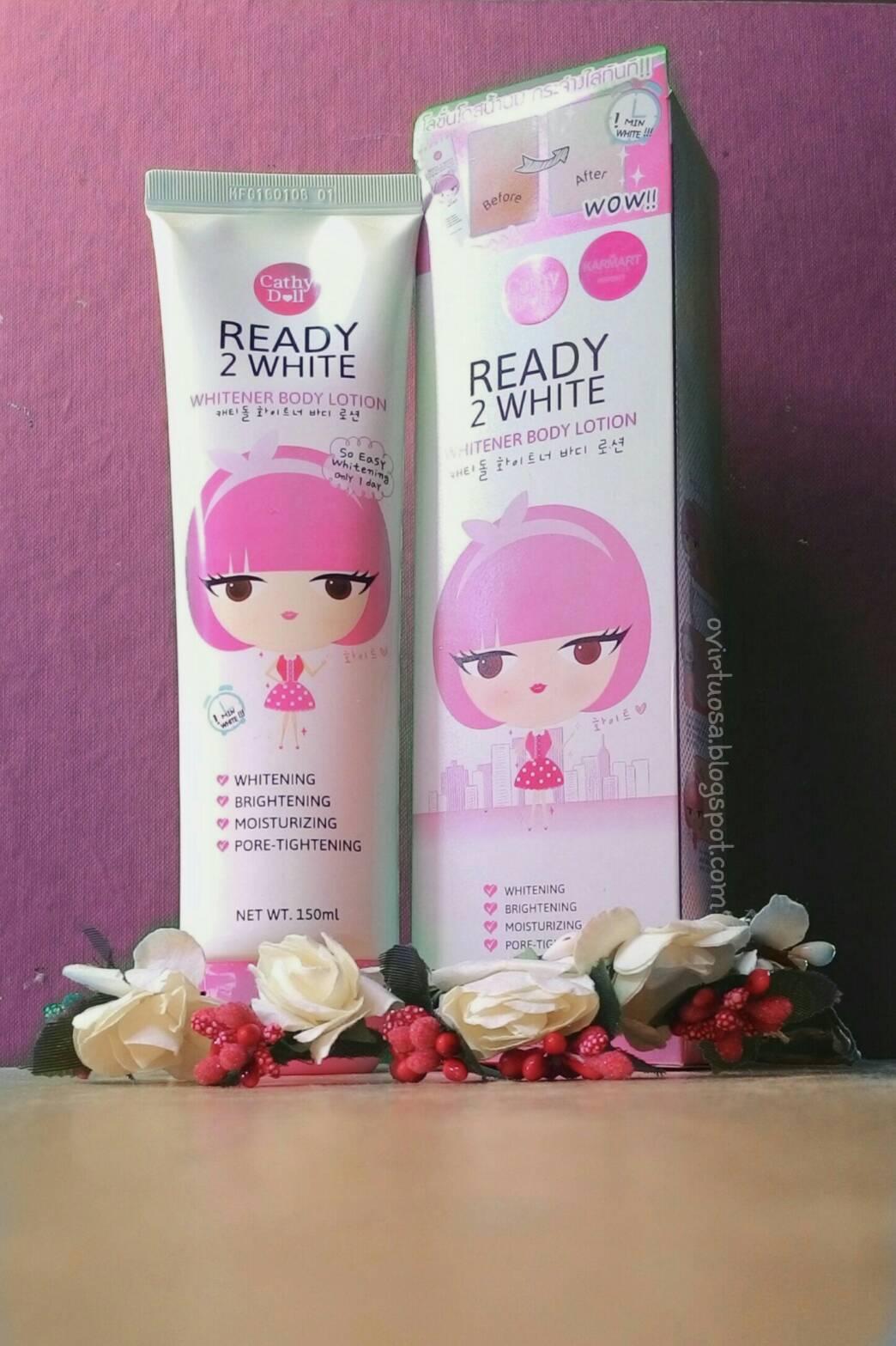 Review Cathy Doll Ready 2 White Whitener Body Lotion 150ml Aku Dari Packagingnya Dulu Yaa Sumpah Lucu Banget Girls Pink Dengan Icon Boneka Khas Tube Warna Dasar Putih Dan Tutup