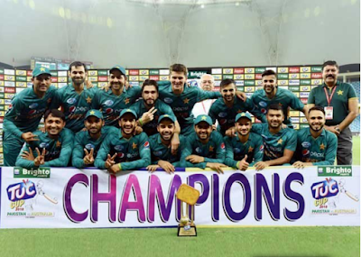 Pakistan wins white in T-Tenth series series
