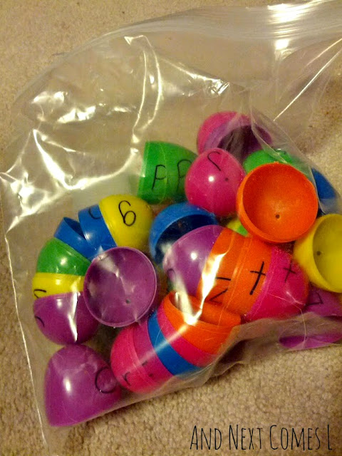 Alphabet matching easter egg busy bag from And Next Comes L