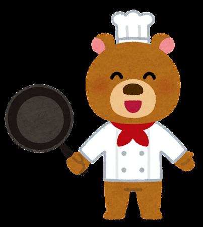 動物のシェフのキャラクター(熊)