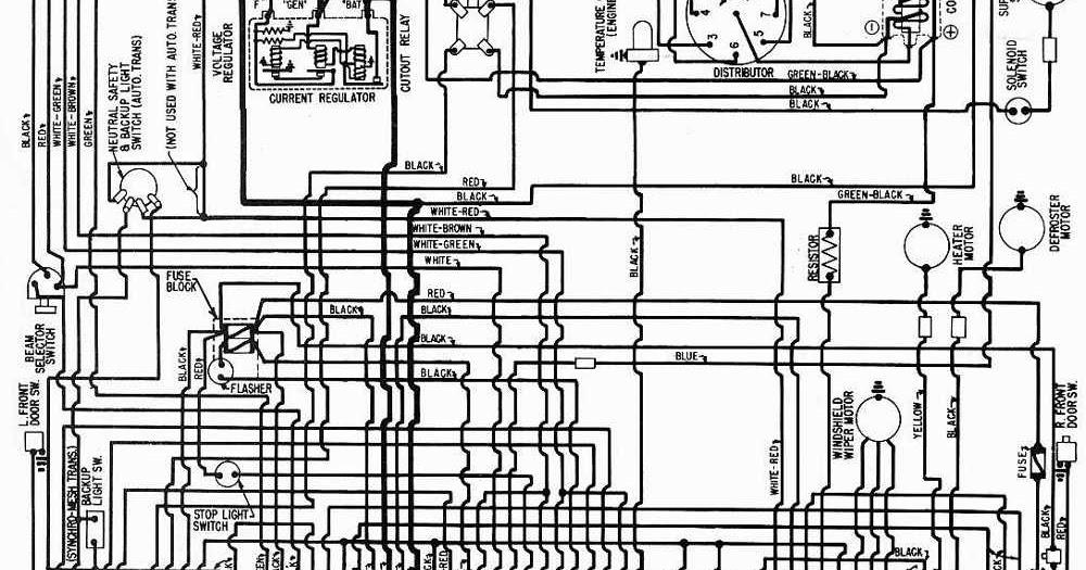 1958 Studebaker and Packard Golden Hawk and Packard Hawk Wiring Diagram   circuit harness wiring